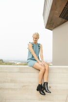 Ella Sleeveless Mini Dress in Teal-FINAL SALE