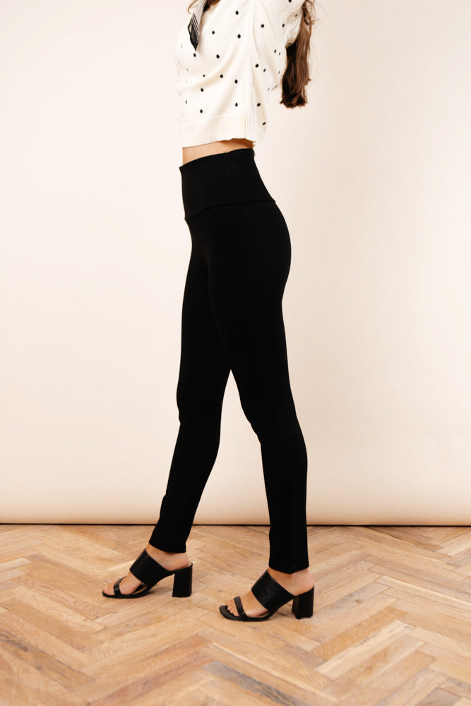 High Rise Ponte Trousers
