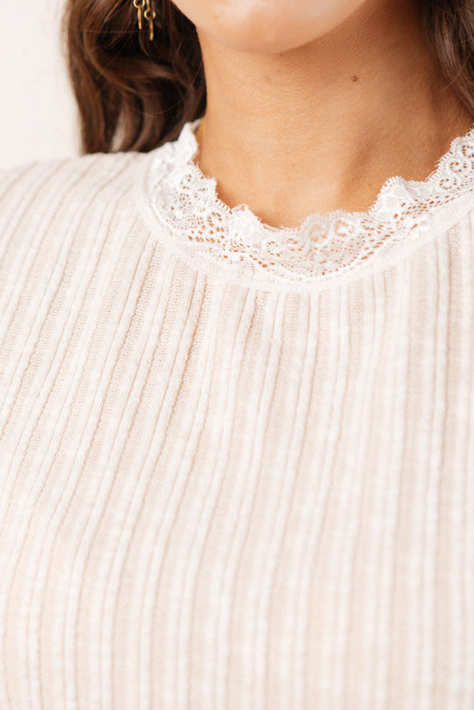 Celia Lace Detail Top