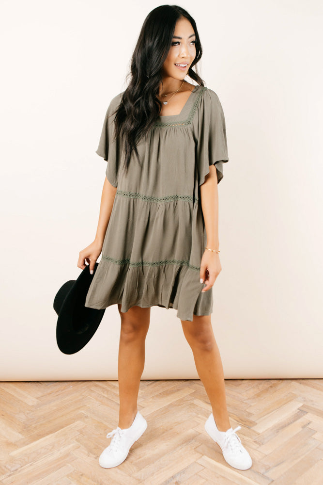 Joselyn Square Neck Dress