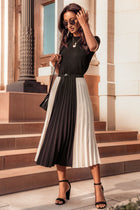 Beth Color Block Skirt - FINAL SALE