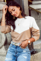 Talia Color Block Sweatshirt