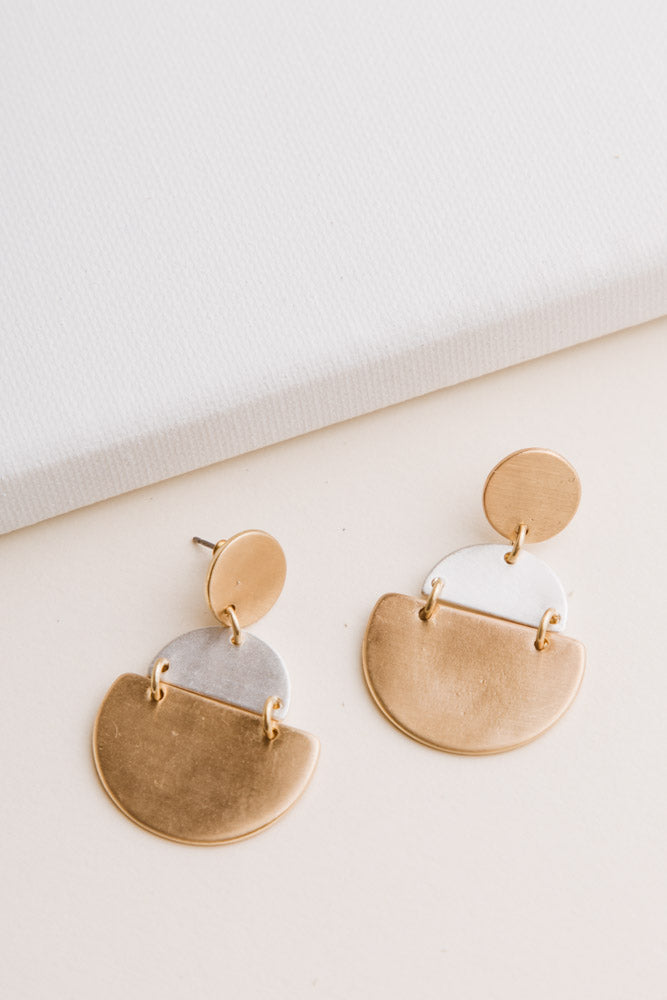 Gold + Silver Dangle Earrings