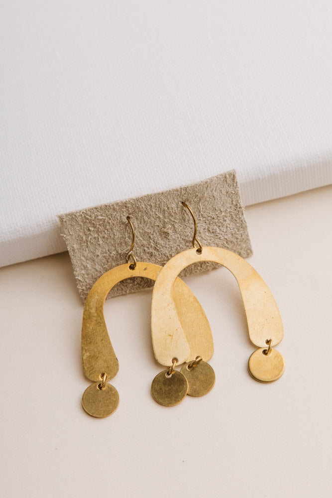 Handmade Arches Drop Earrings