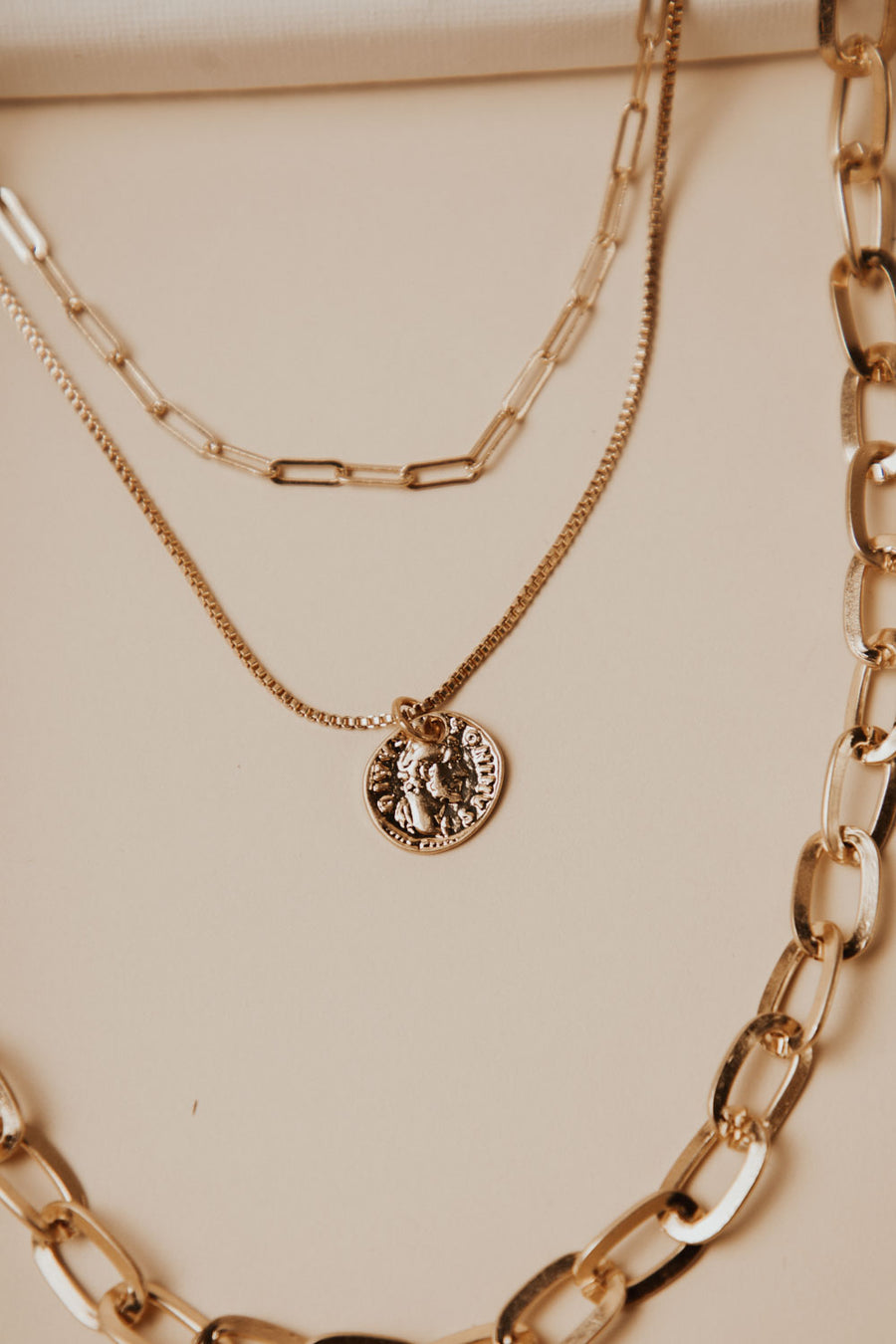 Long Chain Layered Necklace