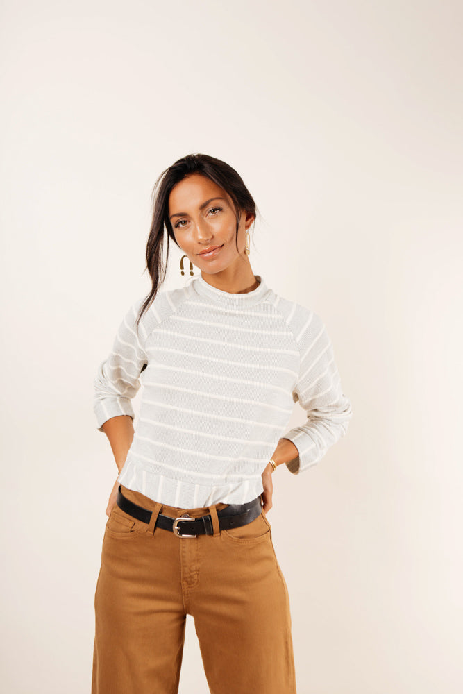 Aubrey Striped Crop Top