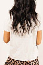 Clara Mock Neck Tee in Cream