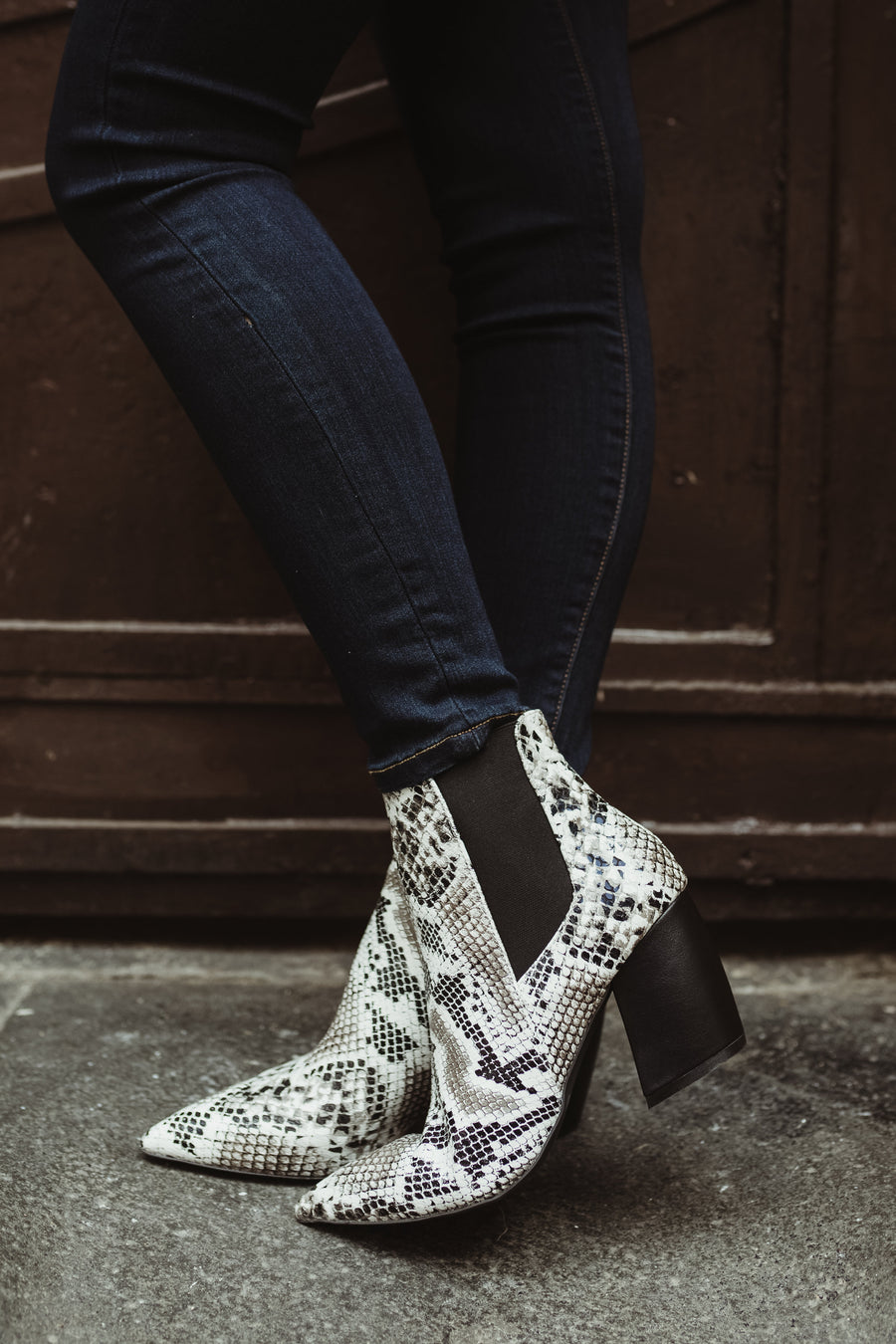 Milkyway Ankle Boots in Snakeskin