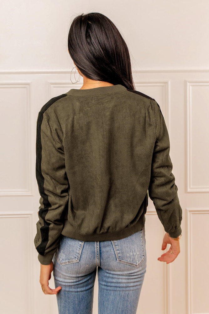Zuri Bomber Jacket in Olive