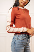 Lyla Stripe Sleeve Sweater-FINAL SALE