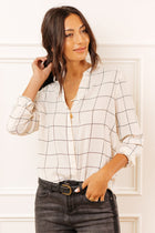Dacie Plaid Button Down in Cream
