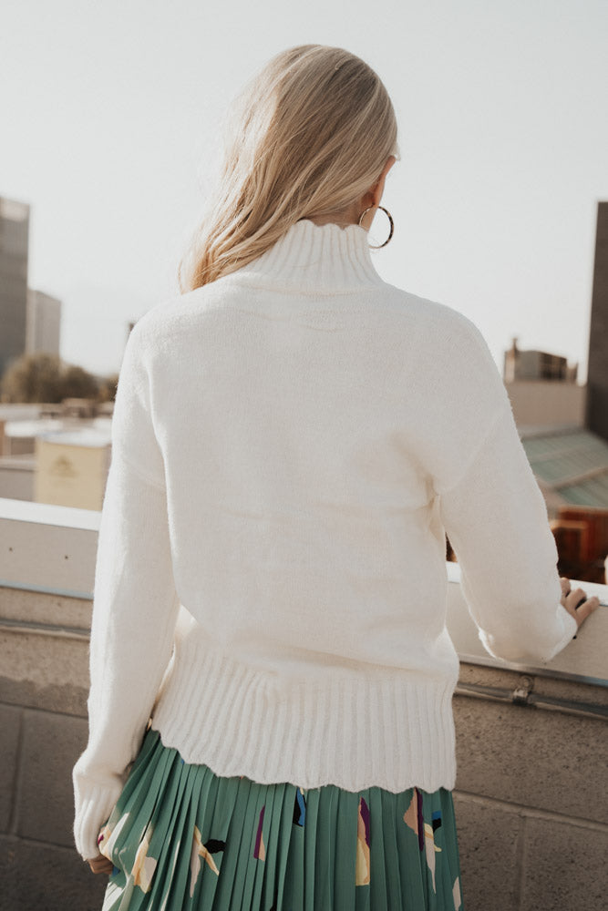 Natalie Turtleneck Sweater in Ivory