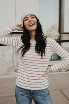 Mariane Stripe Crew Neck Top