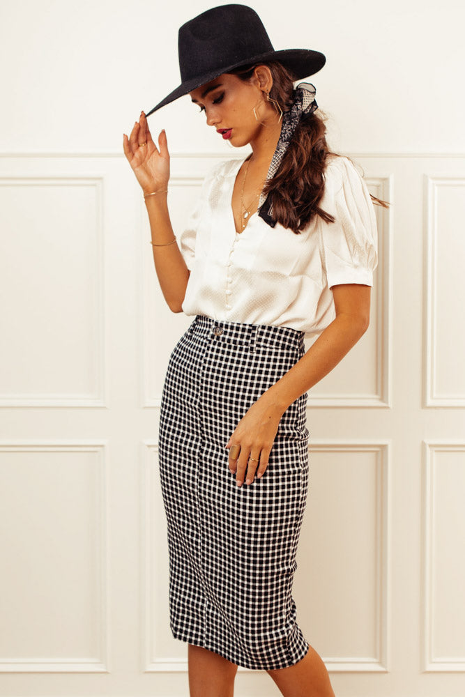 Blakely Gingham Skirt