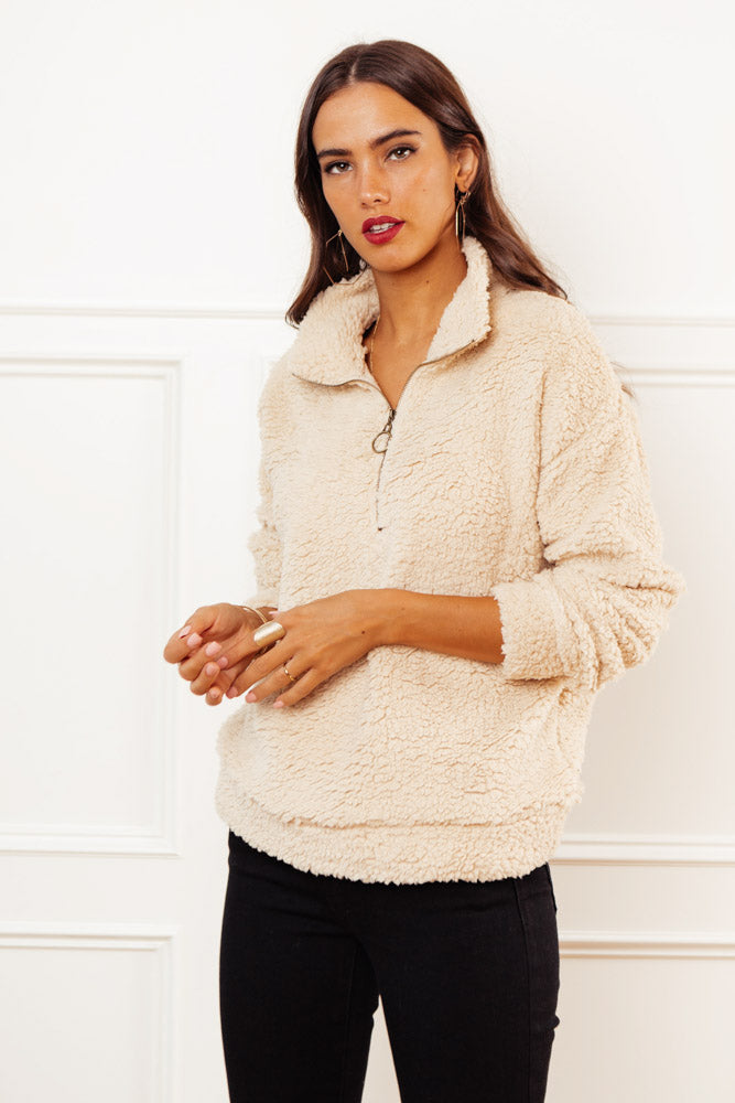Teddy Pullover in Cream