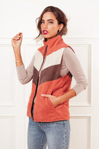Nancy Corduroy Vest in Rust