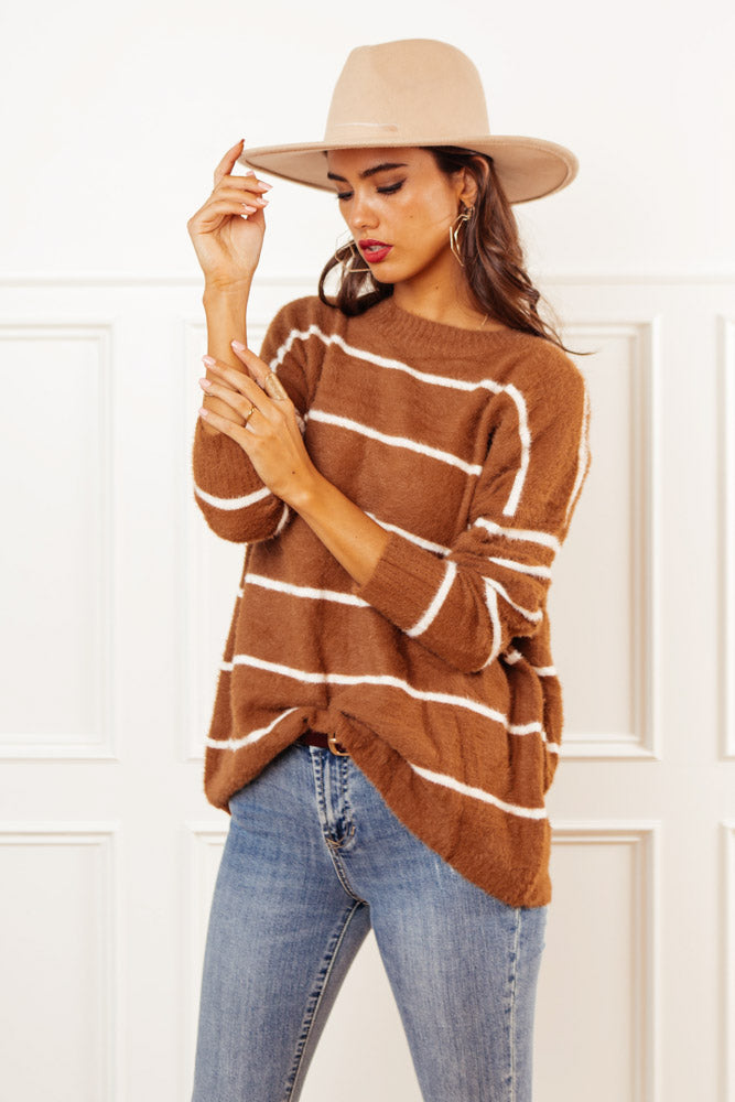 Beck Fuzzy Striped Sweater