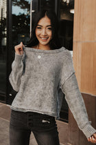 Lexi Knit Sweater in Grey