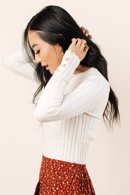 Lonnie Button Sleeve Sweater