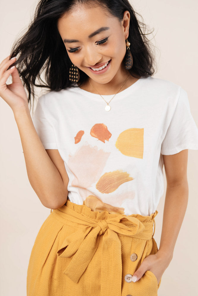 Brush Strokes Graphic Tee