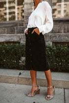 Sawyer Corduroy Skirt in Black