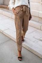 Adriana Paperbag Pants in Camel