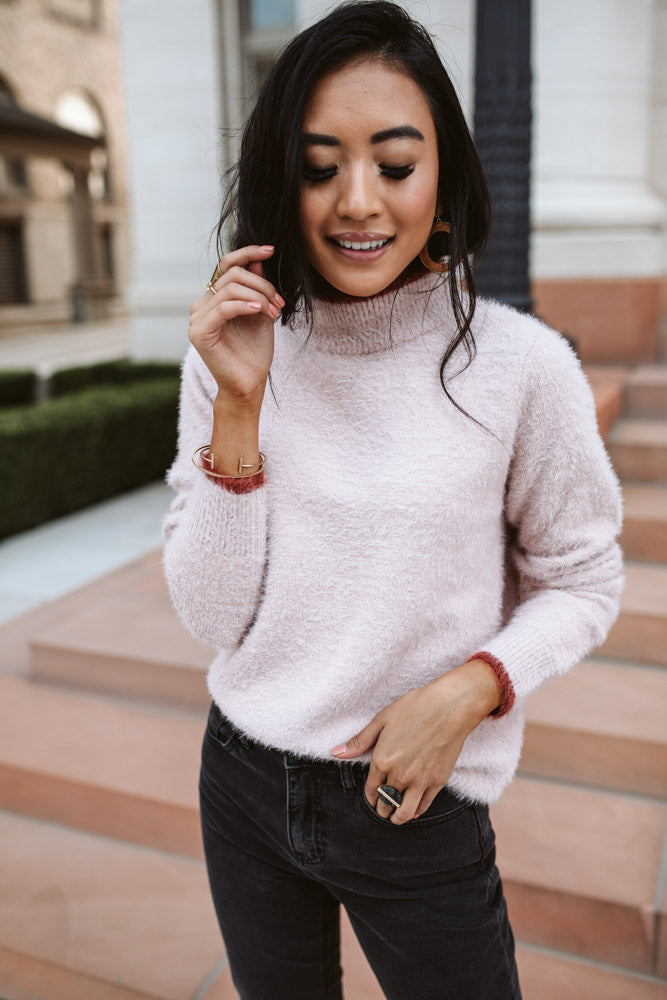 Leila Mock Neck Sweater