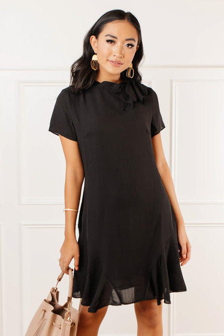 Eleanor Tie Neck Dress - FINAL SALE