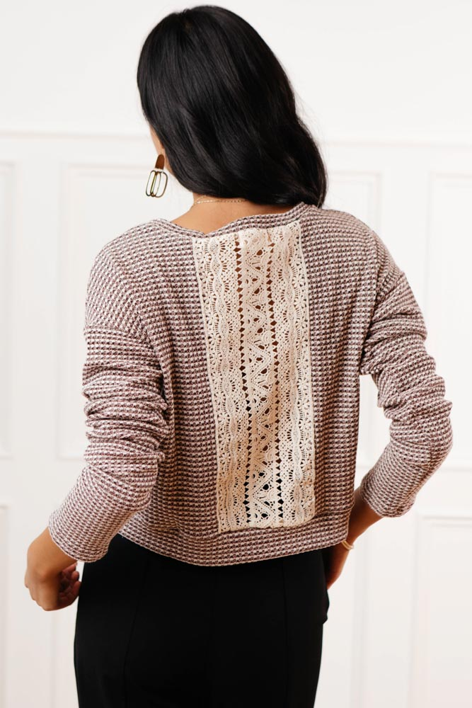 Gabby Lace Detail Top