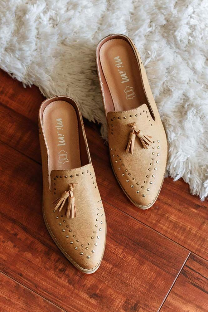 Work and Play Studded Camel Mules - Bohme