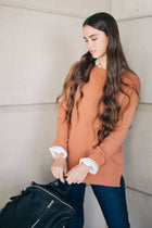 Serina Sweater in Brick