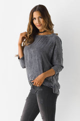 Mineral Wash Blouse