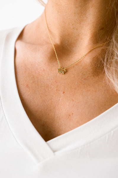 The Little Lotus Necklace