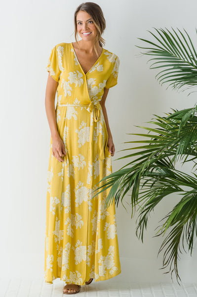 Pineapple Mango Maxi Dress