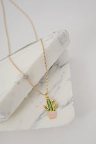 Sweet Cactus Pendant Necklace