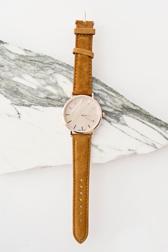 Right On Time Suede Watch - Bohme