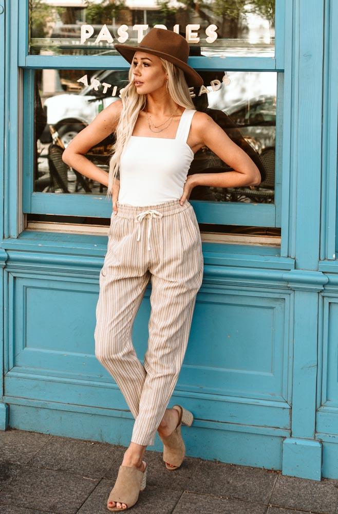 Mahrli Striped Tapered Pants