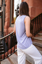 Bence Knotted Tank Top in Lavender - Final Sale