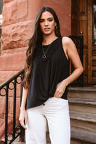 Bence Knotted Tank Top in Black