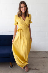 Yes To Everything Yellow Maxi Dress