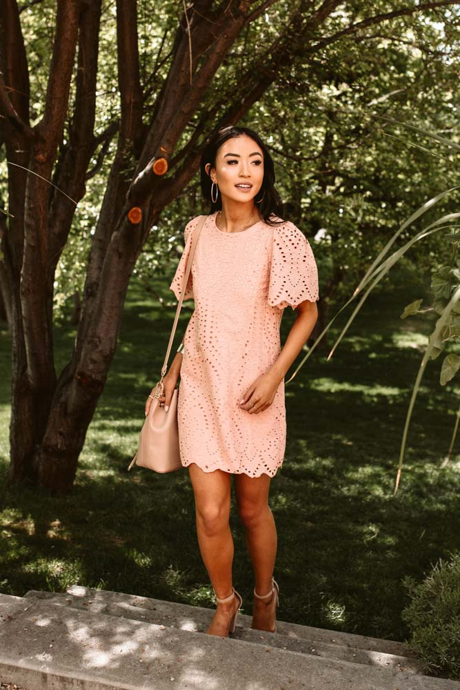 Carraway Shift Dress in Blush