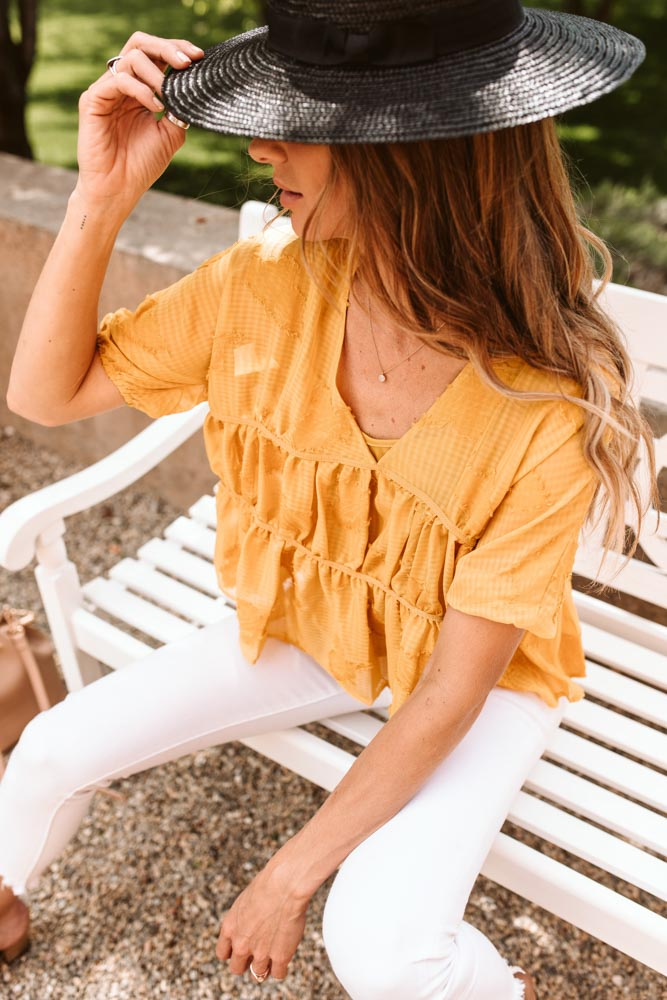 Sunshine Hill Tiered Top - Final Sale