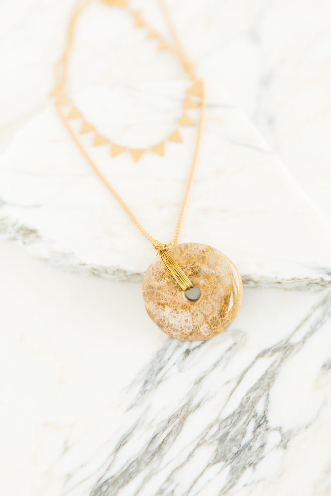 Round the World Stone Necklace - Bohme