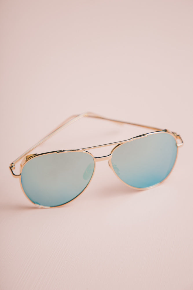 blue gradient sunglasses bohme