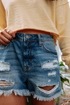 Arielle Distressed Denim Shorts