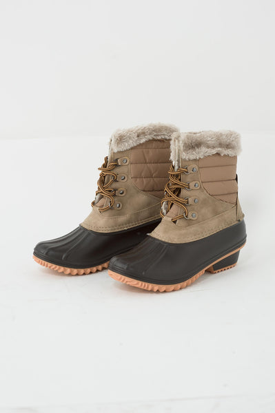 Fur Trim Duck Boots