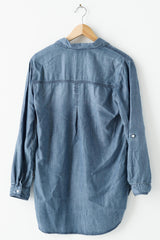 Long Sleeve Denim Blouse