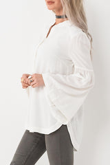 Bell Sleeve Button Blouse