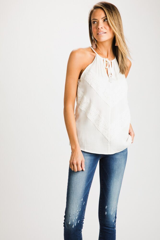 Lace You There Tassel Tie Tank