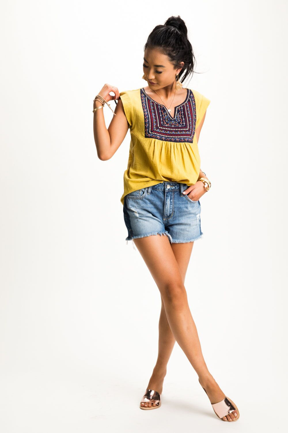 In the Sun Embroidered Top-FINAL SALE